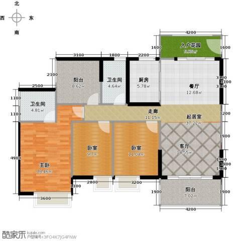 广州星河・山海湾1室0厅2卫1厨140.00㎡户型图
