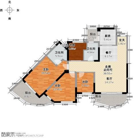 碧桂园十里银滩4室0厅2卫1厨139.00㎡户型图