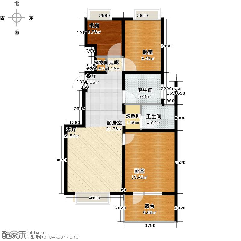北京城建・琨廷M2户型1室2卫