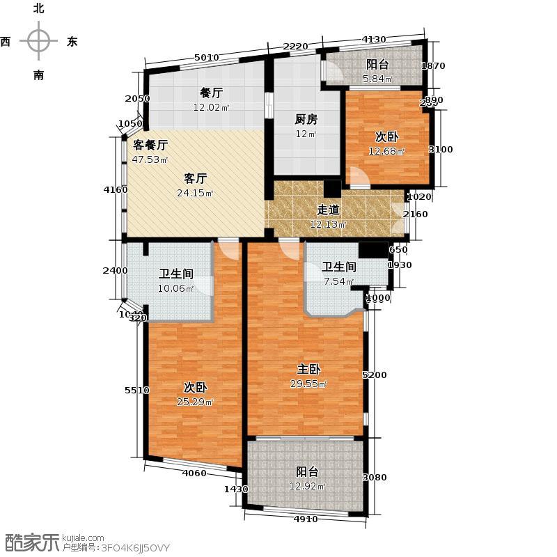 香梅王座A2户型3室1厅2卫1厨