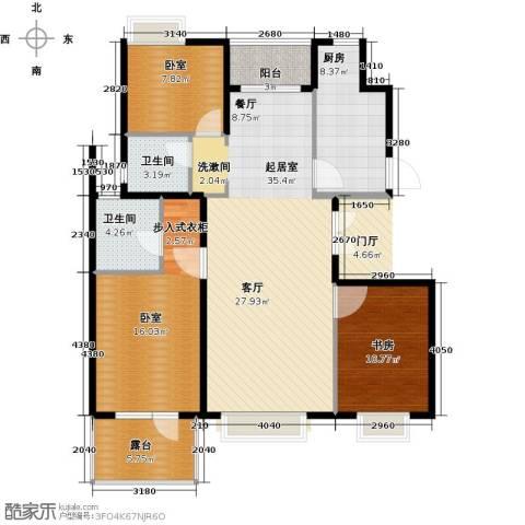北京城建・琨廷1室0厅2卫1厨126.00㎡户型图