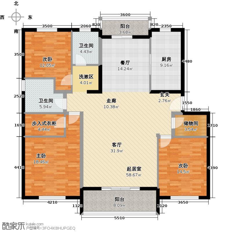 浦江颐城--20套户型3室2卫1厨