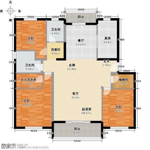 浦江颐城3室0厅2卫1厨160.00㎡户型图