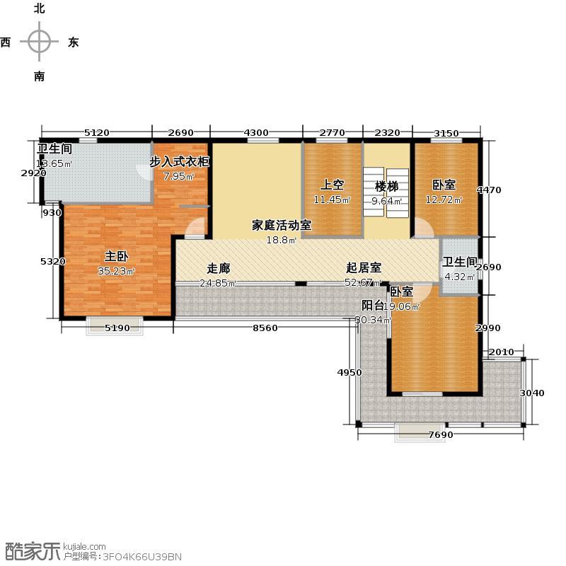 北京湾N3二层户型1室2卫