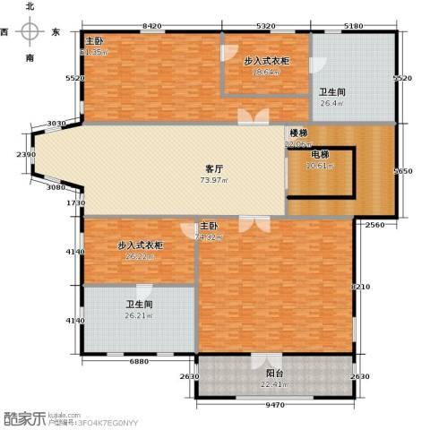 新江湾城首府2室1厅2卫0厨380.00㎡户型图