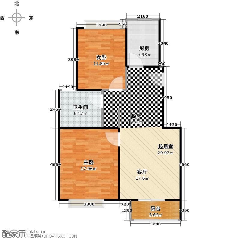 马陆清水湾--26套-嘉定房地(2008)预字0844号户型2室1卫1厨