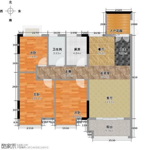 城央御景尚品3室0厅1卫1厨95.00㎡户型图