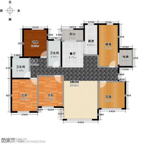 海上国际花园3室0厅2卫1厨154.00㎡户型图