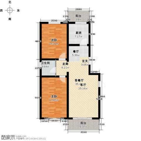 尚北青年公寓(鑫基家属小区)2室1厅1卫1厨100.00㎡户型图