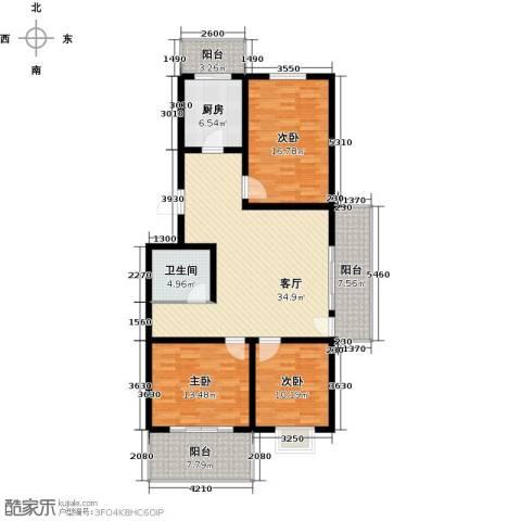 尚北青年公寓(鑫基家属小区)3室1厅1卫1厨120.00㎡户型图