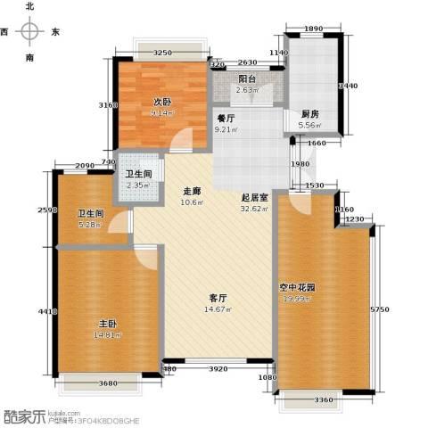 海上国际花园2室0厅2卫1厨128.00㎡户型图