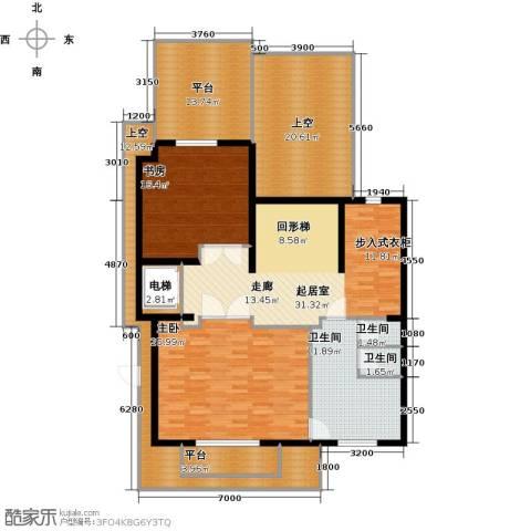 京基・鹭府2室0厅3卫0厨520.00㎡户型图