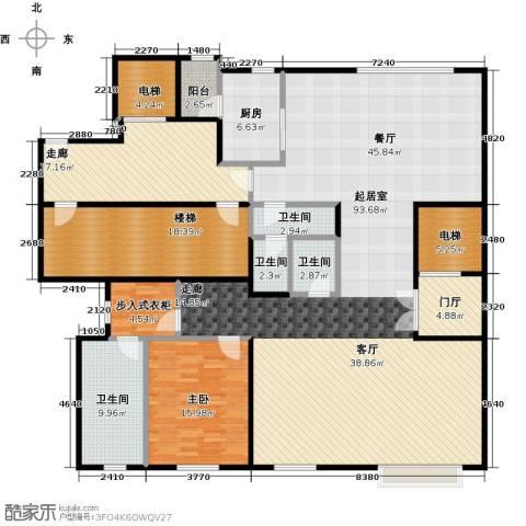 万通华府1室0厅4卫1厨347.00㎡户型图