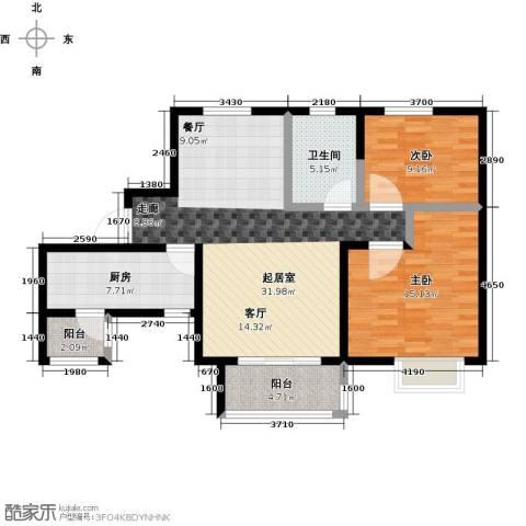 凯德新视界2室0厅1卫1厨88.00㎡户型图