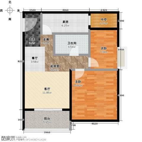 凯德新视界2室0厅1卫1厨75.00㎡户型图