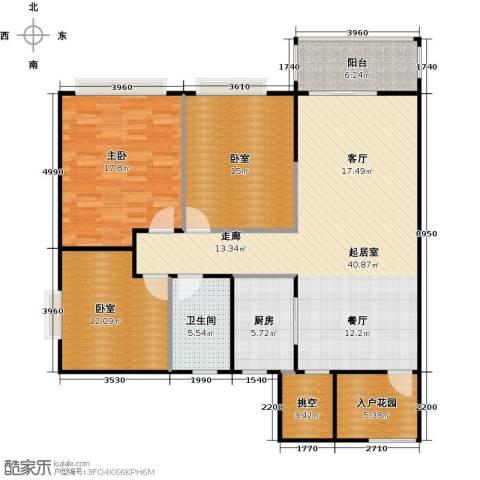 元邦明月金岸1室0厅1卫1厨113.00㎡户型图