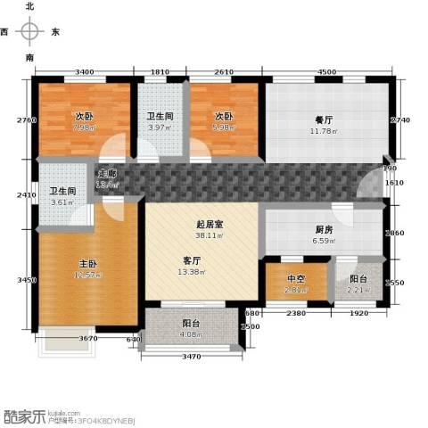 凯德新视界3室0厅2卫1厨103.00㎡户型图