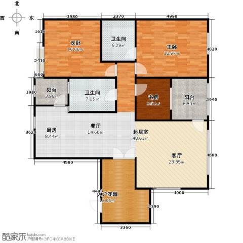 大学城馨园3室0厅2卫0厨135.00㎡户型图