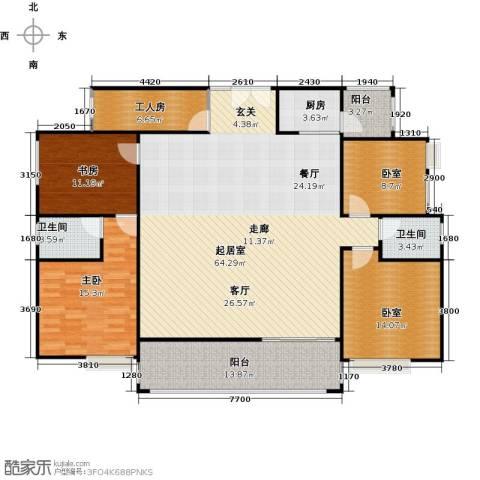 荔城花园2室0厅2卫1厨197.00㎡户型图