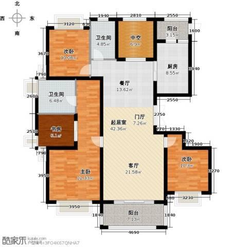 保利叶之林4室0厅2卫1厨146.00㎡户型图