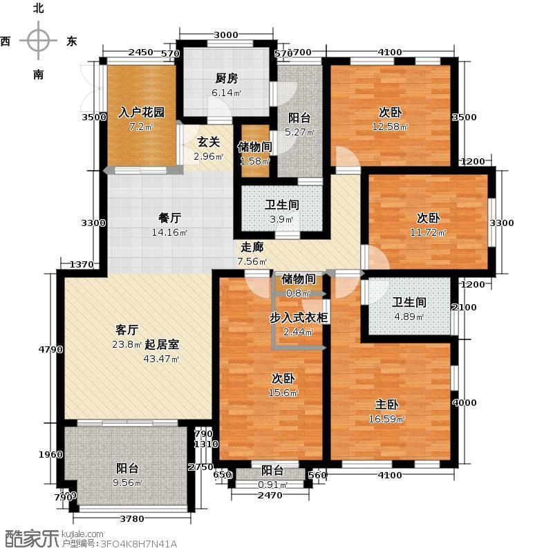 江与城D1-户型4室2卫1厨