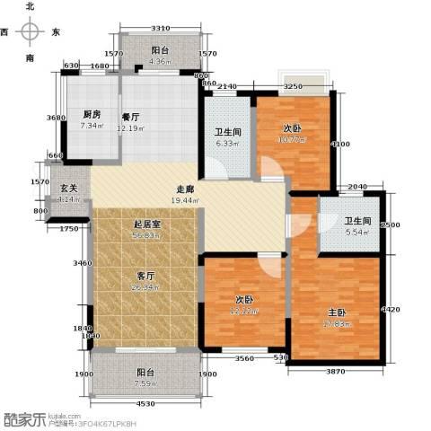 路劲翡丽湾3室0厅2卫1厨152.00㎡户型图