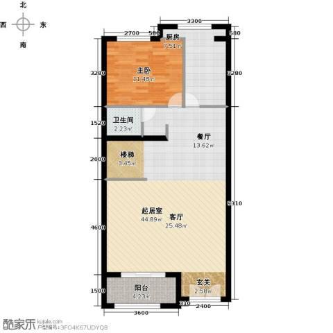 融科托斯卡纳庄园1室0厅1卫1厨186.00㎡户型图