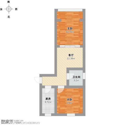 梅陇十一村2室1厅1卫1厨66.00㎡户型图