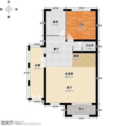 融科托斯卡纳庄园1室0厅1卫1厨212.00㎡户型图