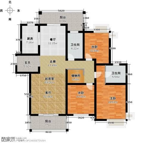 路劲翡丽湾3室0厅2卫1厨153.00㎡户型图