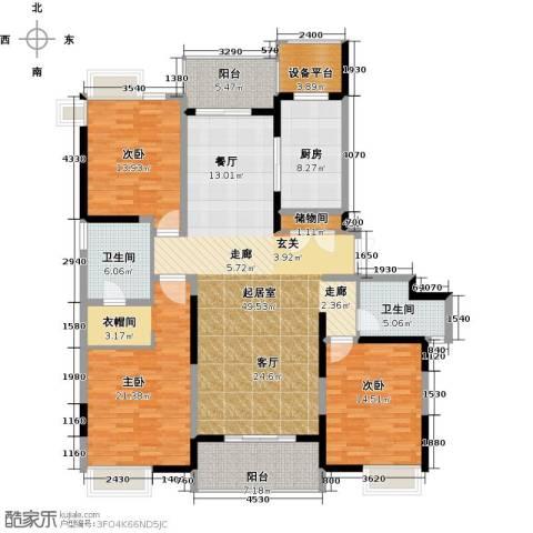 路劲翡丽湾3室0厅2卫1厨155.00㎡户型图