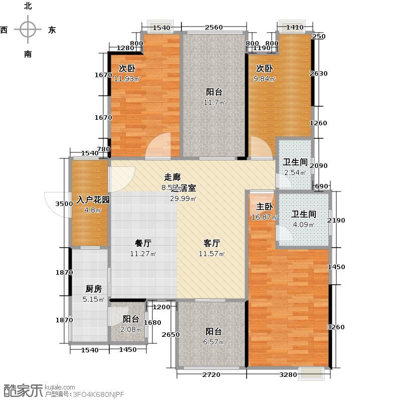 碧桂园豪庭J74北二楼六街11号三、四、六、八、十、十二、十四、十六、十八层04单元户型3室2卫1厨