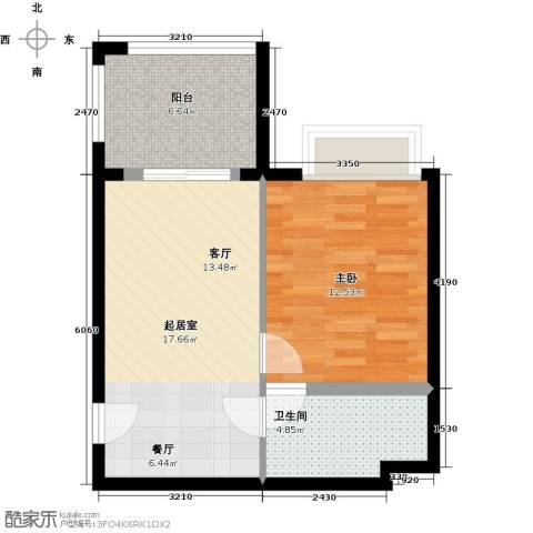 隆鑫三峡国家度假公园1室0厅1卫0厨63.00㎡户型图