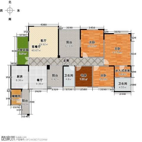 协信阿卡迪亚君临天下4室1厅2卫1厨191.00㎡户型图