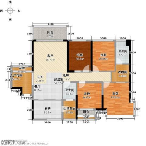 美佳华首誉4室0厅2卫1厨133.00㎡户型图