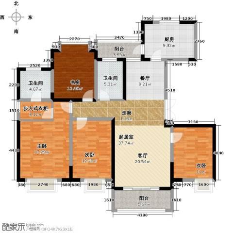 苏宁荣悦4室0厅2卫1厨175.00㎡户型图