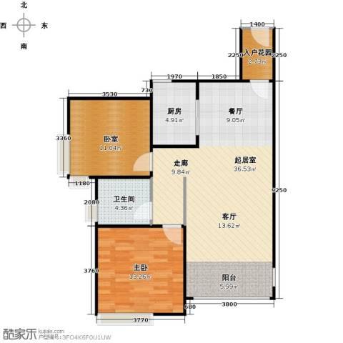 南沙创鸿汇1室0厅1卫1厨78.00㎡户型图
