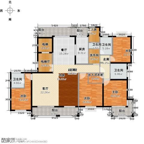 锦绣逸庭4室0厅4卫1厨221.00㎡户型图