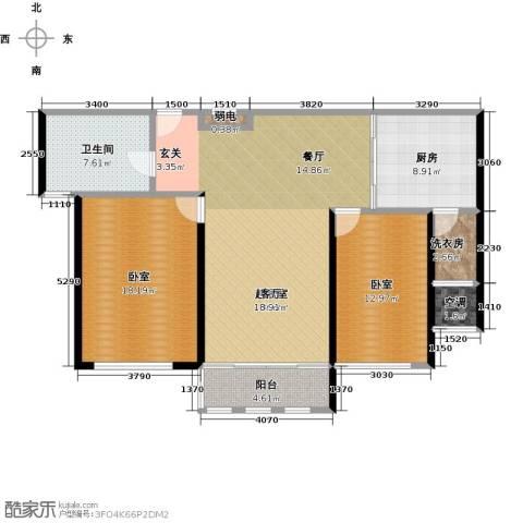 公馆771卫1厨130.00㎡户型图