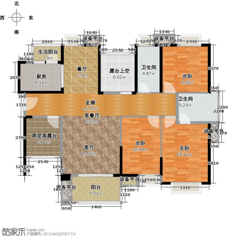 中熙香缤山山境C5栋02户型3室1厅2卫1厨