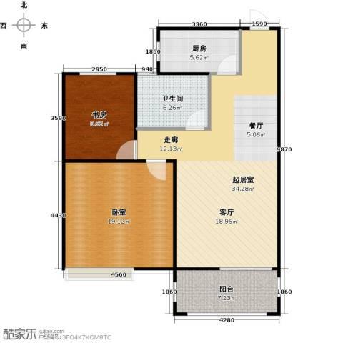 南山雨果1室0厅1卫1厨88.00㎡户型图