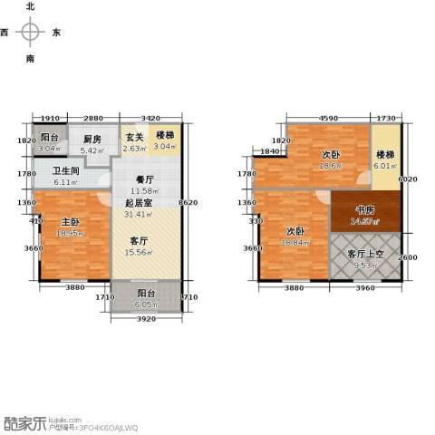 大旺・海印又一城4室0厅1卫1厨132.61㎡户型图