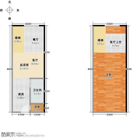 大旺・海印又一城1室0厅1卫0厨52.96㎡户型图