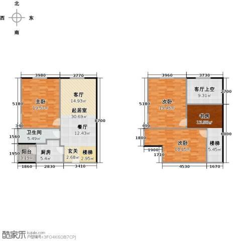 大旺・海印又一城4室0厅1卫1厨125.24㎡户型图