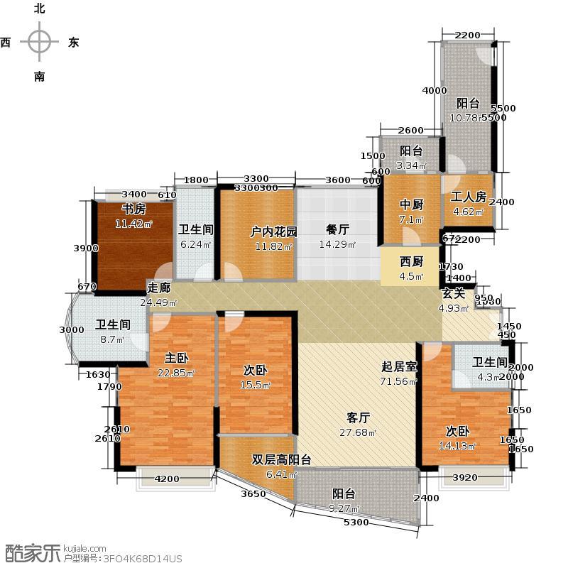 阳光天健城8、9栋01、02-奇数层户型4室3卫