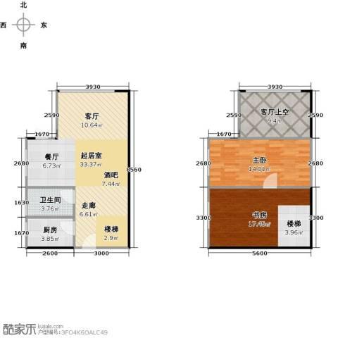 大旺・海印又一城2室0厅1卫1厨81.83㎡户型图
