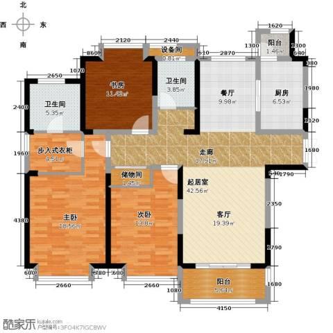 苏宁荣悦3室0厅2卫1厨167.00㎡户型图