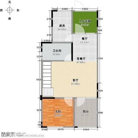 武汉锦绣香江1室1厅1卫1厨113.00㎡户型图