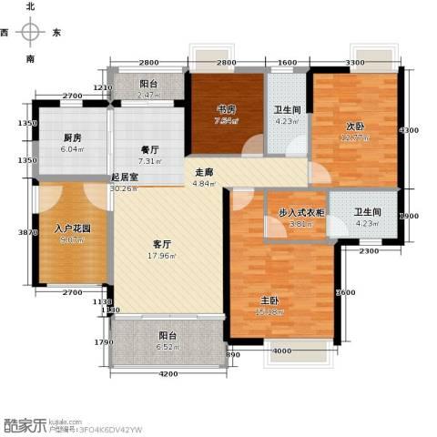 尚品雅居3室0厅2卫1厨116.08㎡户型图