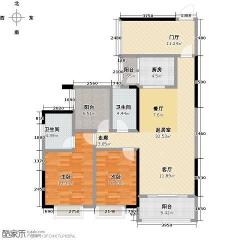 龙光城2室0厅2卫1厨108.00㎡户型图